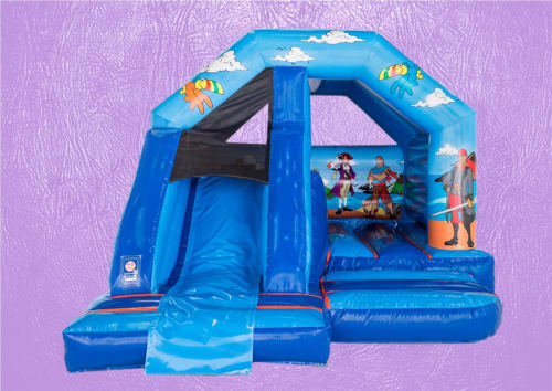 Pirate A-Frame Front Slide Bouncy Castle 15 x 12 1017