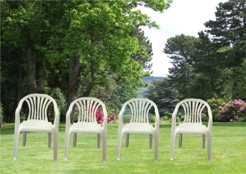 5 Plastic Garden Chairs 1342A